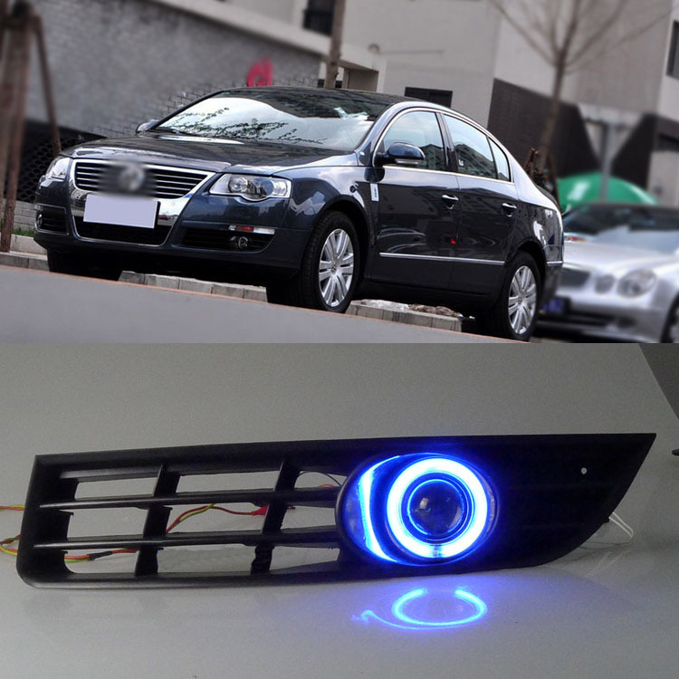 Ownsun супер cob Противотуманные фары глаза Ангела бампер объектив проектора для Volkswagen Magotan