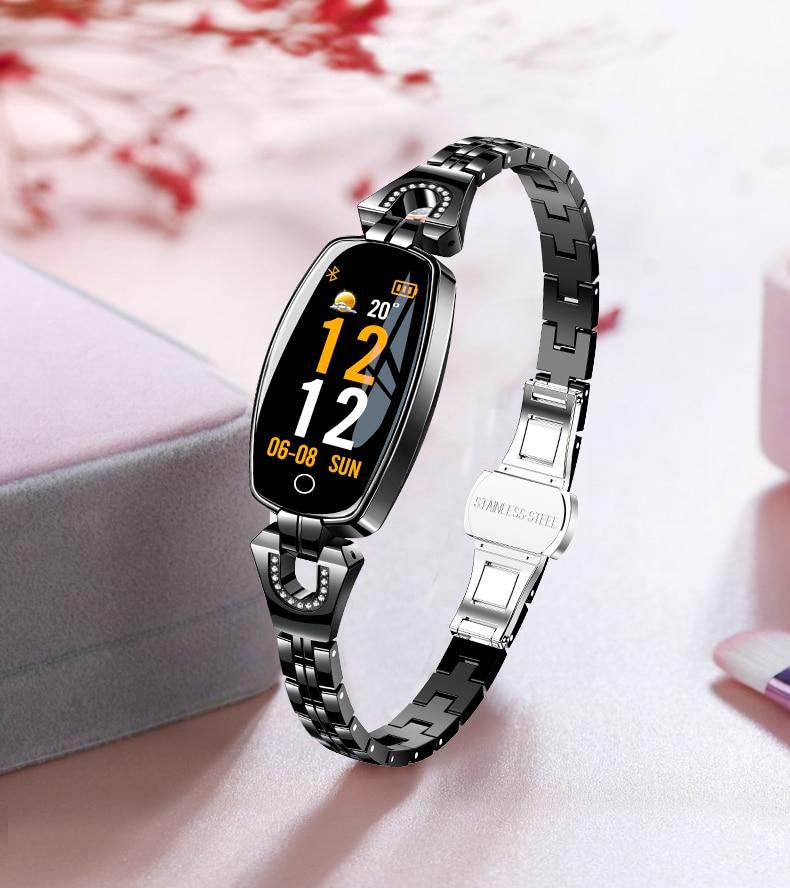 HTB1NAhyOgHqK1RjSZFgq6y7JXXaY H8 Women Smart watch Fashion Heart Rate Monitor Blood Pressure Smart Band IP67 Waterproof Fitness Activity Tracker lady bracelet