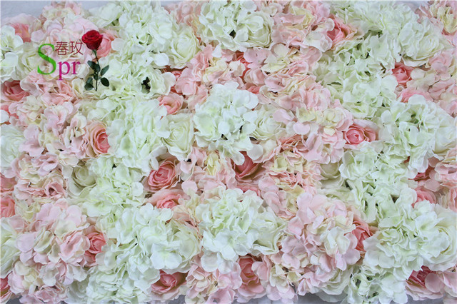 SPR Pink series artificial rose wedding flower wall backdrop road lead flower table centerpiece flower ball for party market