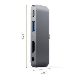 Image 4 - USB C HUB For iPad Pro 2018 Type C Audio Adapter Mobile Pro Hub with USB C PD Charging 4K HDMI USB 3.0 3.5mm Headphone Jack