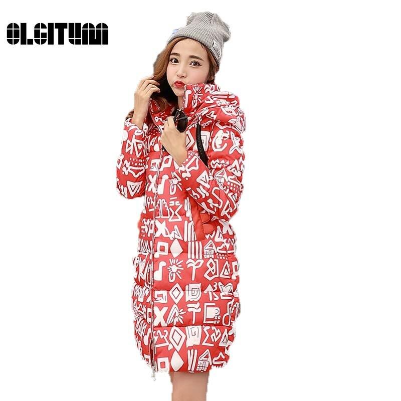 ФОТО 2017 winter new female models  long down jacket cotton Korean fat mm large size down jacket female long paragraph cotton women