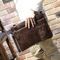Novo Design de Moda Do Vintage de couro bolsa de Ombro Homens, Saco de Homem Mensageiro Bolsa, A4 Envelope Saco de Arquivo Bolsa de Negócios Black & Brown