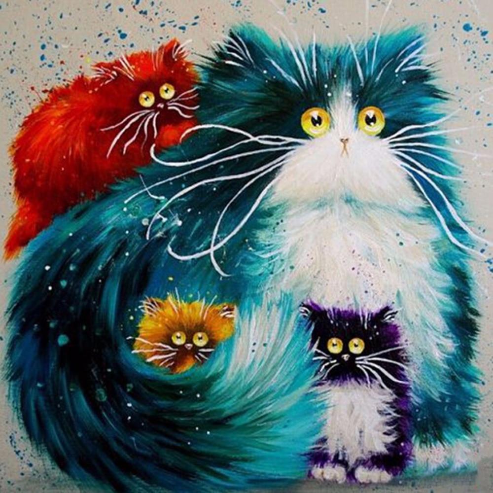 Картинки нарисованные с кошками прикольные