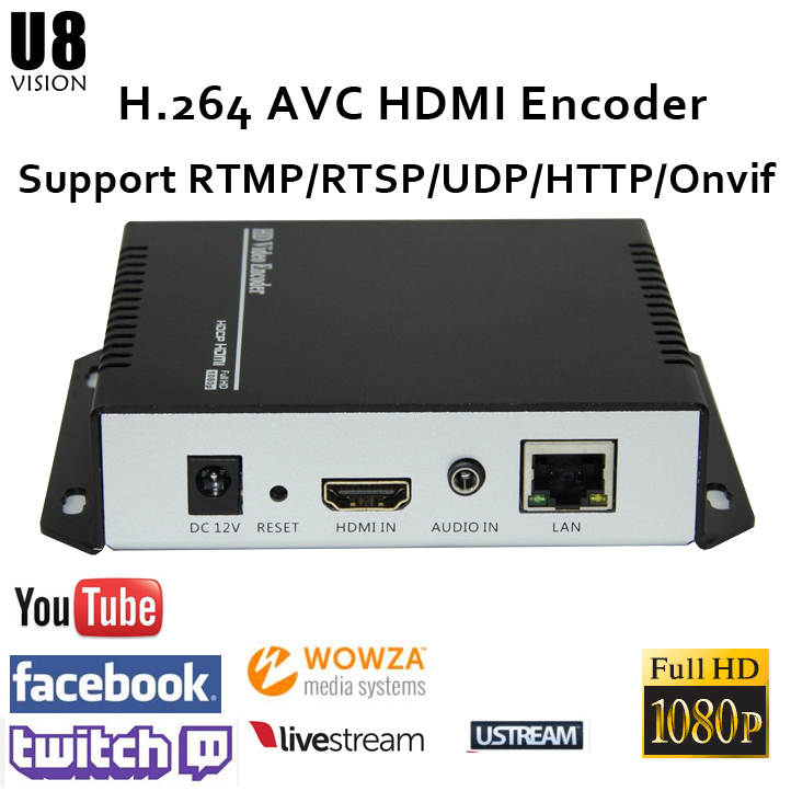 U8Vision H.264 HDMI Video Encoder support RTSP/RTMP/UDP/RTP/HTTP for live streaming Broadcast image