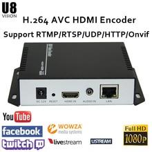 U8Vision H.264 HDMI Video Encoder support RTSP/RTMP/UDP/RTP/HTTP for live streaming Broadcast best h 265 h 264 1080p hd hdmi encoder for iptv live stream broadcast by rtmp http rtsp vlc for streaming server youtube
