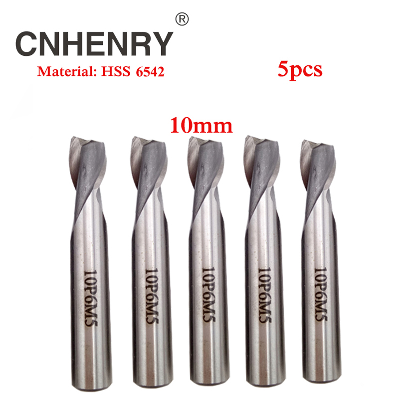 5pcs 2 Flute 10mm HSS 6542 End Mill  Router Bit Set Keyway Milling Cutter for Wood Cutter End Mill CNC Drill Bit Diagnostic-tool free shipping of 1pc hss 6542 full cnc grinded machine straight flute thin pitch tap m37 for processing steel aluminum workpiece