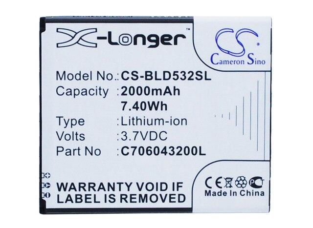 C706043200L Battery For BLU D532 D532U D534 D670 D670U L120 L131L L131U,Life One M,Studio 5.0 II,Studio 5.0C HD