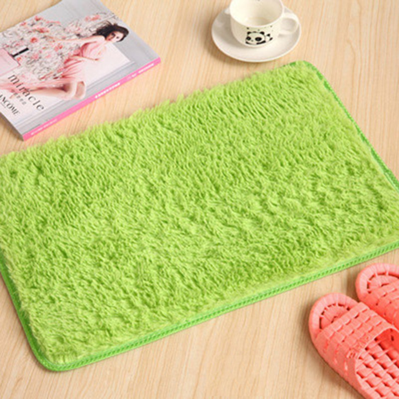 Keythemelife 1PC Candy Color Coral Fleece Doormat Carpet Floor Water Absorption Mats Bathroom Rugs Slip-Resistant Mats B0