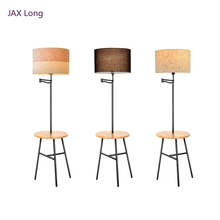 Nordic Living Room Wooden LED Floor Lights Placement Items Lamp Interior Decoration Standing Lighting