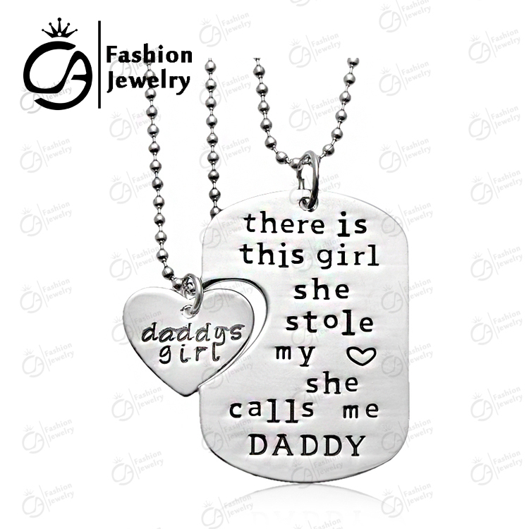 Buy daughter necklace daddy and get free shipping on aliexpress mozeypictures Choice Image
