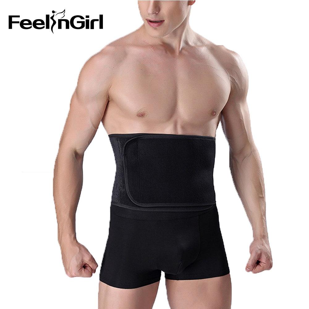 FeelinGirl Rubber mens body shaper Belt Slimming Body Shaper weight loss Firm Control Sweat Tummy Girdle Shapwear Modeling-c