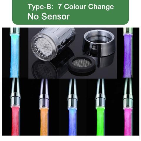 LED Faucet Light Temperature Sensor Intelligent Recognition Temperature Different Colorful LED Light Color Water Tap Shower Karachi