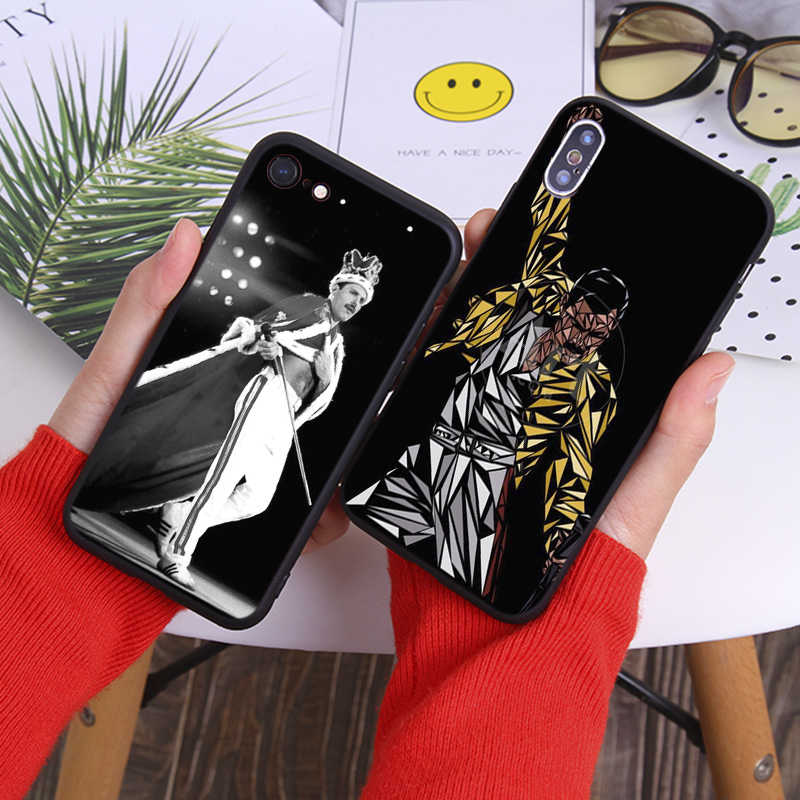 Freddie Mercury królowa zespołu Rock and roll muzyka miękkie silikonowe etui na telefony dla iPhone 11 11 Pro 11 Pro Max