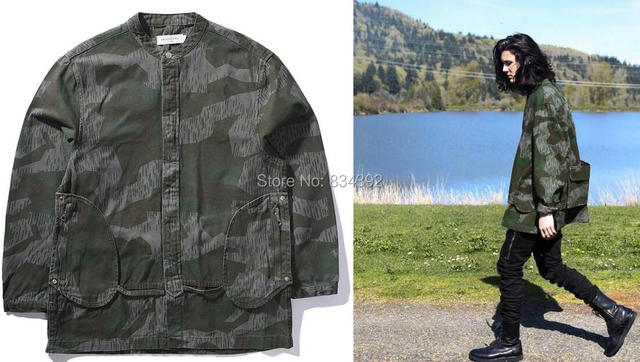 6788de80f71da NEW high fashion mens clothing windbreaker jackets for men coat kanye west  M65 tactical camouflage army camo military jacket