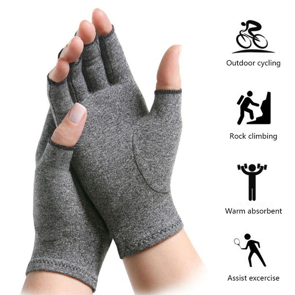 1 Pair Women Men Arthritis Gloves Compression Joint Finger Pain Relief Hand Wrist Support Brace Relax Therapy Pain Heathy Gloves