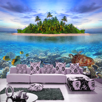Mediterranean island scenery photo wallpaper space extension large mural wallpaper non-woven living room bedroom background deco free shipping 3d custom forest scenery background wallpaper mural ceiling entrance sitting room non woven wallpaper
