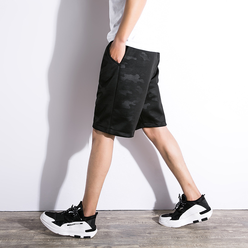 LG Camouflage Cotton Men's Shorts Summer Fashion Military Trunks French Terry Cotton Casual Hip Hop Male Short