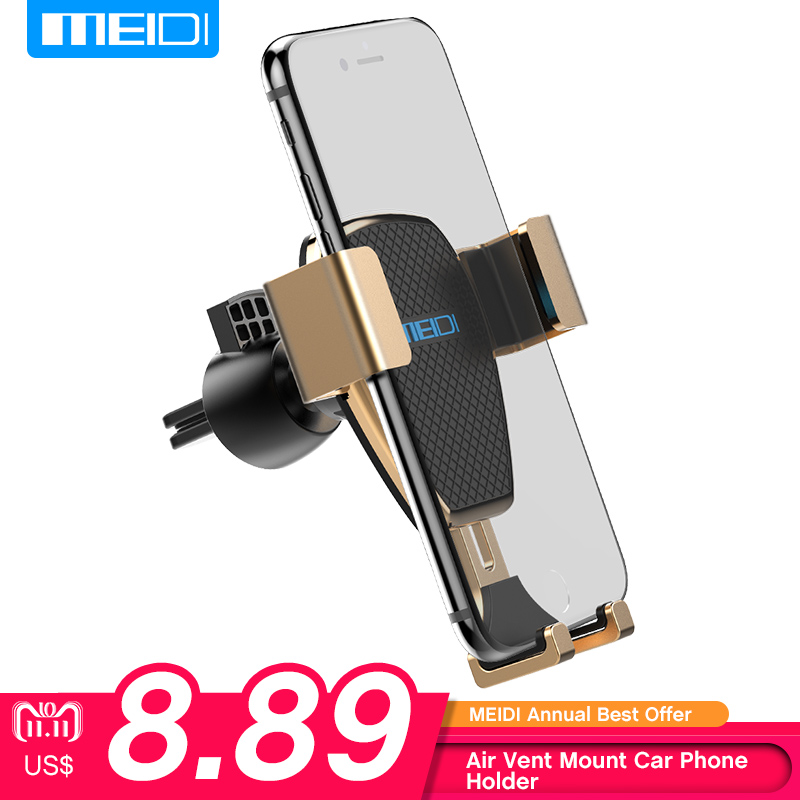 Phone Holder for Car , MEIDI Gravity One-Handed Operation Universal Air Vent Car Mount for iPhone 7/6s/6 Plus 5s/SamsungS8/ 7 oicgoo transparent phone case for iphone 6 6s 7 8 plus ultra thin clear soft tpu silicone cover cases for iphone 8 7 6 6s plus