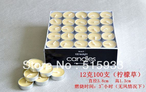 Decoration Candle,  100pcs (Vanilla  Color), Aromatherapy Candle,Lovely Color  - JBC100V
