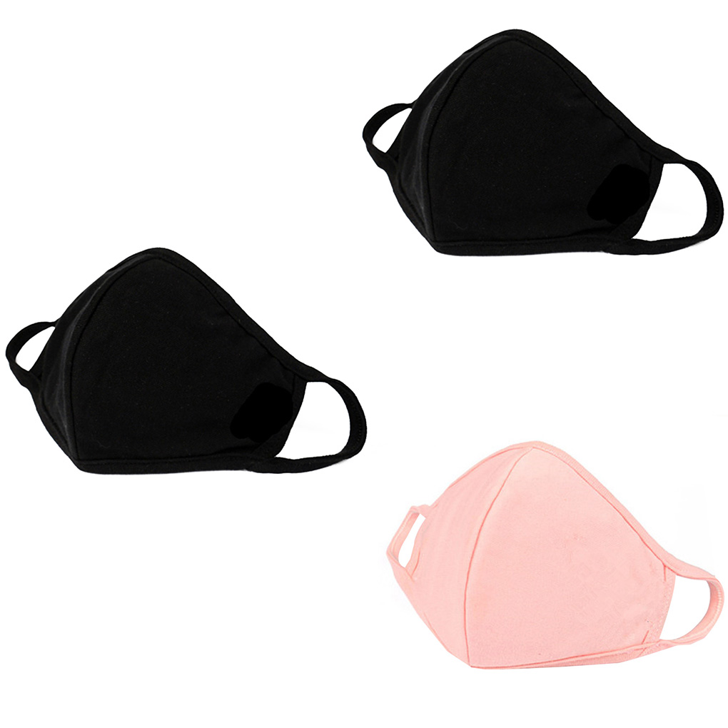 2 Colors Spring Summer Cotton Thin Personality 3D Mask Men Women Dustproof Earloop Face Mouth Mask