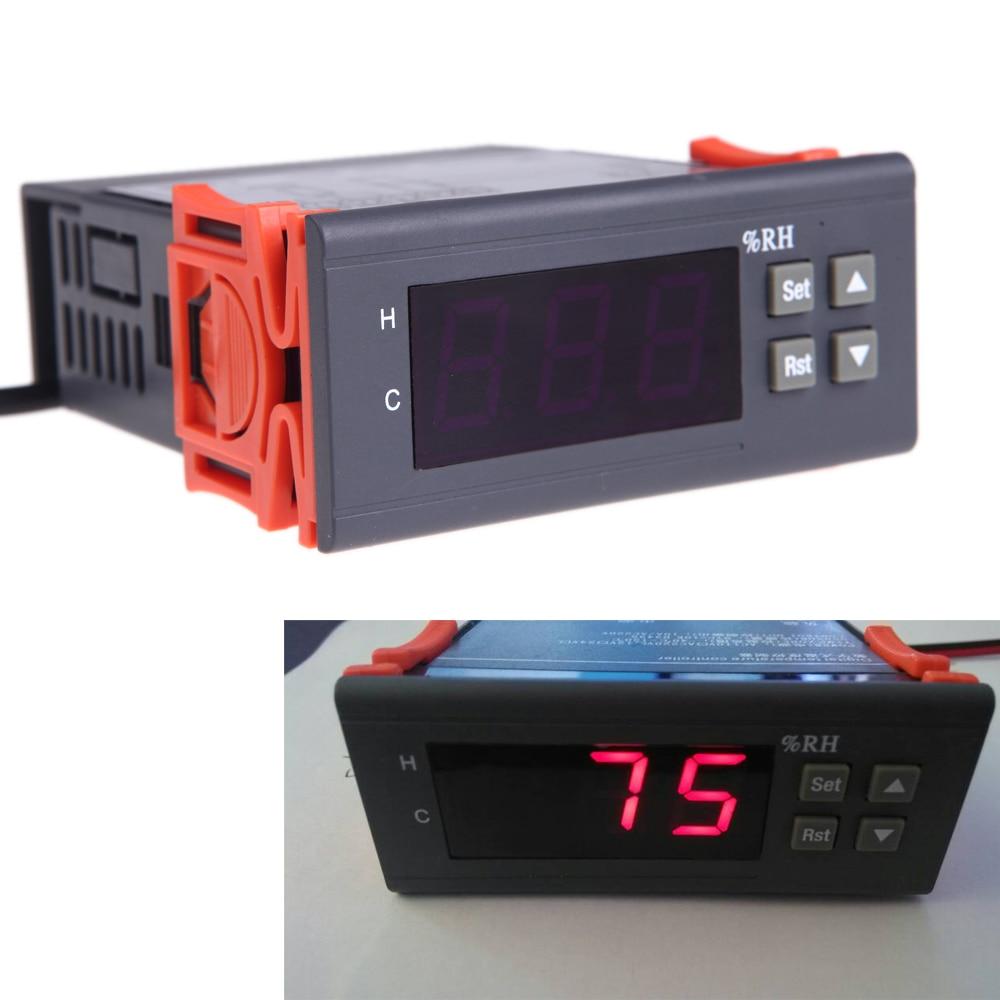 Werkzeuge 10a 220 V Mini Digital Thermostat Hygromstat Luft Temperatur Controller Messbereich 1%-99% Mit Sensor Feuchtigkeit Meter