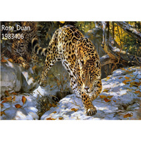 Top Fashion Animal Leopard DIY Diamond Painting 5D Cross Stitch Embroidery Mosaic Diamond Home Decorative Figure