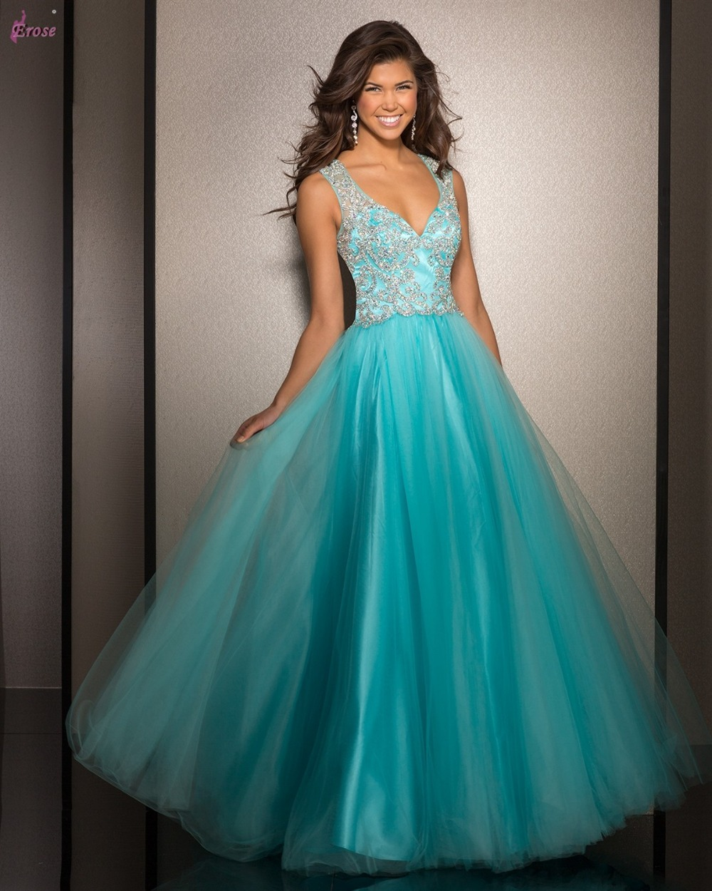 Pretty turquoise prom dresses - Dress on sale