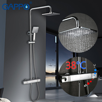 GAPPO shower system thermostatic shower faucets waterfall faucet set shower system Bathtub tap Wall Mounted mixer tap bathroom