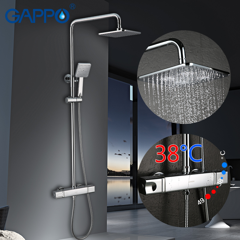 GAPPO shower faucet waterfall faucet set shower syatem Bathtub tap shower Wall Mounted mixer tap bathroom thermostatic faucets