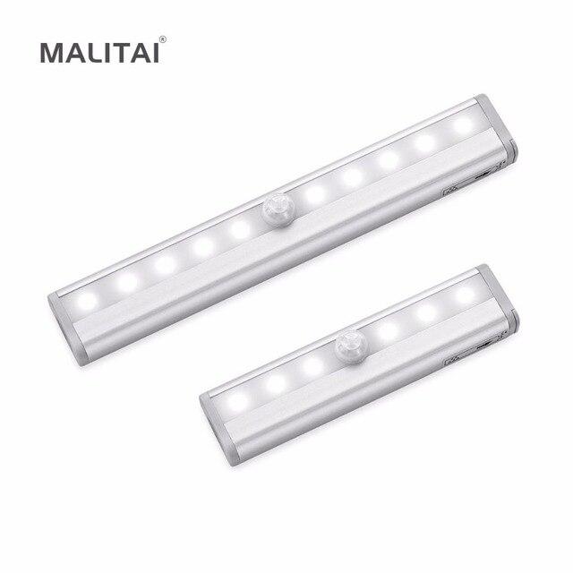Portable Led Under Cabinet Light Motion Sensor Closet Wall Lamp Rigid Strip Bar Kitchen Wardrobe