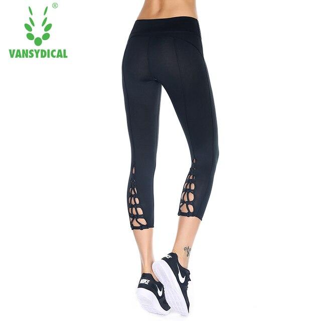 Femmes Yoga Pantalon 3 4 Longueur Haute élasticité Taille Leggings Yoga Gym  Fitness Stretch Sport 891f0220b32