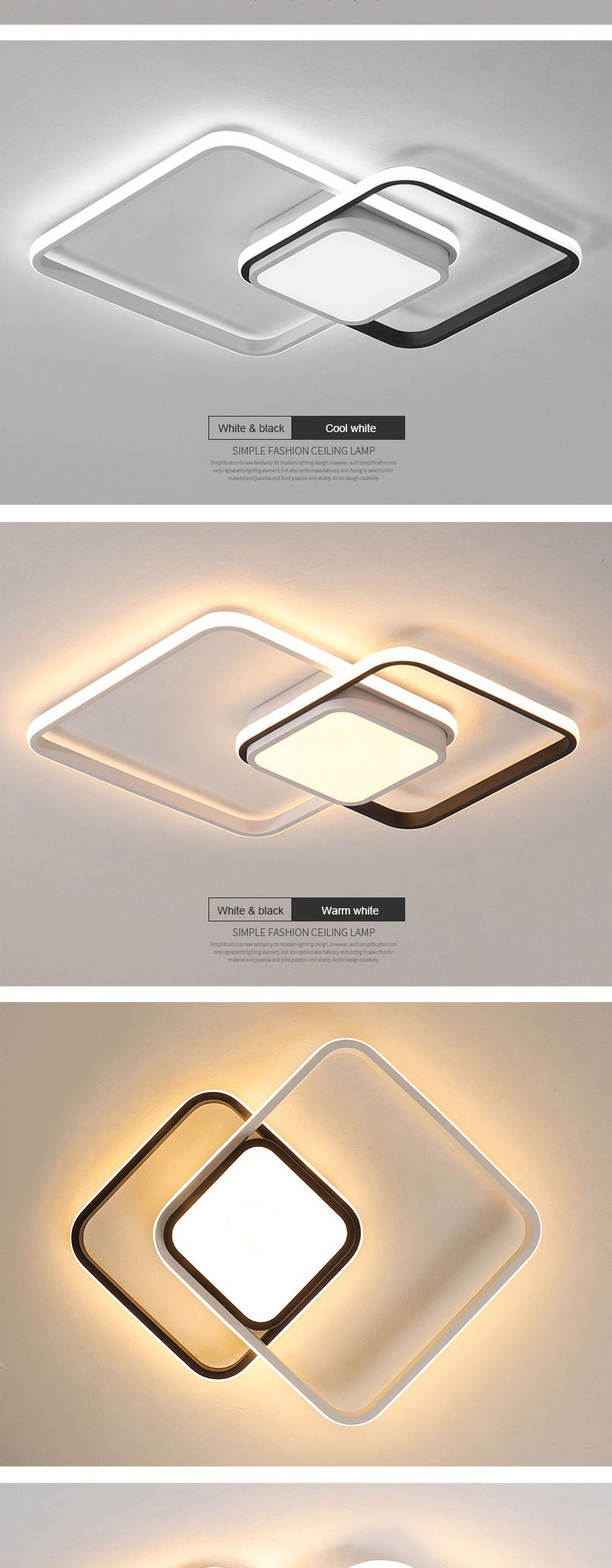 HTB1NAkgXvfsK1RjSszbq6AqBXXan LICAN Bedroom Living room Ceiling Lights Modern LED lampe plafond avize Modern LED Ceiling Lights lamp with remote control
