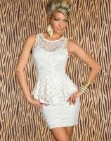 Hurtownie Sexy damska odzież Klubowa Tanie Cena Casual Suknie Elegancka Mini Sukienka/Clubwear Biały/Czarny CB9529