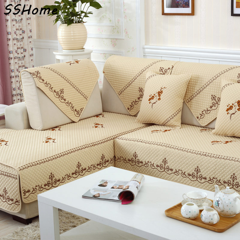 Sofa Cover Set Light Yellow Pink Grey Sectional Slip Cover