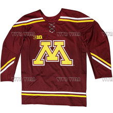 0700bc5fa Minnesota Golden Gophers Hockey Jersey Customized Any Name Any Number Ice Hockey  Jersey Retro College Colosseum Stitched Jersey