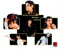5pcs/set Popular King MICHAEL JACKSON MJ STATUE DOLL FOREVER Figure Statue toys