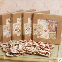 Hot DIY Scrapbooking Album Love Album Wooden Frames For 8 Inches Album Family Smile Albun SWF