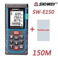 SNDWAY 150m 120m Digital Laser Distance Meter Rangefinder Tape Measure Distance Area Volume Diastimeter Range Finder