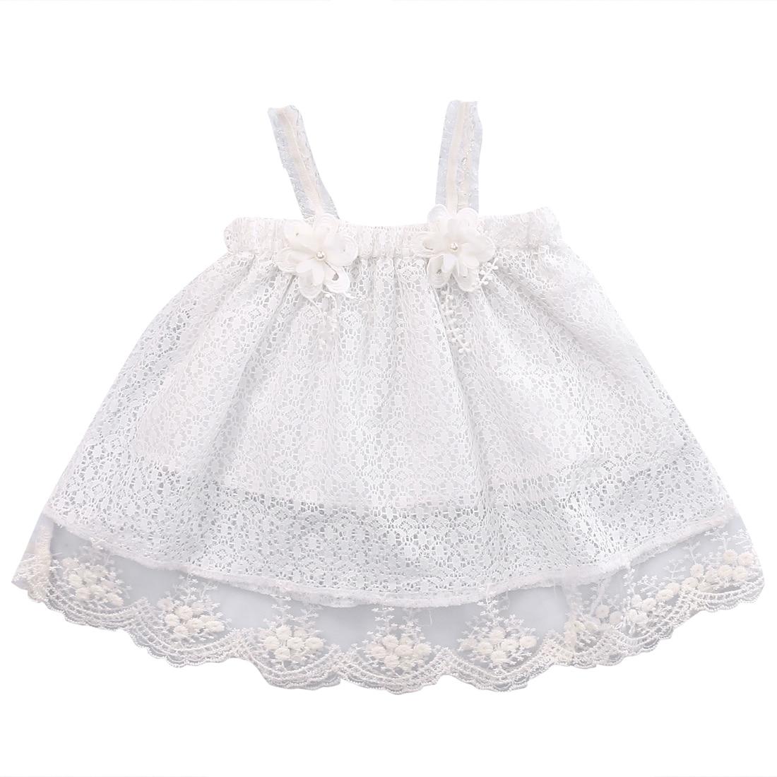 Infant Kids Baby Girls Princess Lace Dress Party Dress Sleeveless braces Tutu Flower Dresses 0-24M