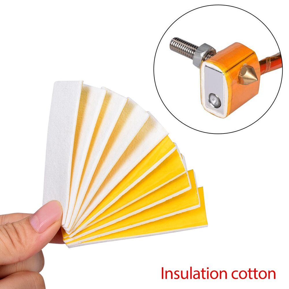 5PCS/LOT 3D Printer Parts Nozzle Heat Insulation Cotton Heating Block Cotton Hotend 70*20MM For 3D Printer MK8 Extruder