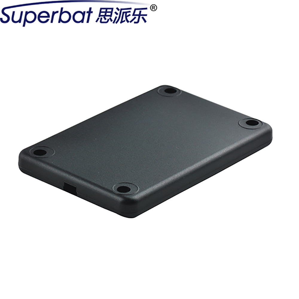Superbat 2.73''0.45'*4.11'' Black/White Plastic Box Instrument Case Electronic Enclosure Card Reader Holder 69.5X11.5X104.5mm