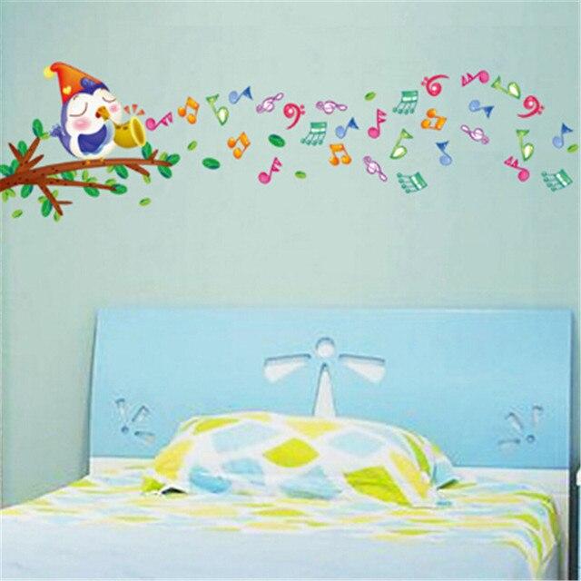 806 notes de musique oiseaux stickers muraux maternelle for Decoration murale note de musique