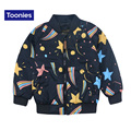 2017 New Autumn Winter Children Jackets & Coats Girls Boys Children Jacket Warm Thickening Outerwear Stars Printed Children Coat
