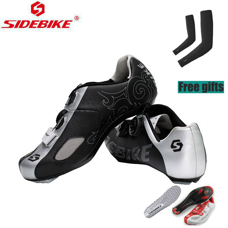 BATFOX New 2017 Cycling sneaker mtb Road Carbon Fiber Bike Cycling Shoes Men PRO Racing Team Self-Locking Athletic Bicycle Shoes carbon mtb 650b rims stiffer dh bike part 27 5er 35x25mm wide down hill jumping racing ride excellent cycling parts store online