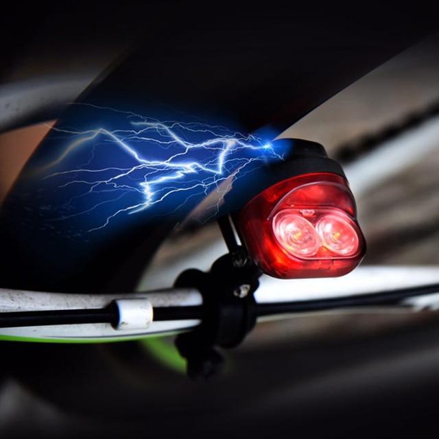 bike fietsen wrijving generator dynamo rode achterlichten set veiligheid geen batterij en fiets koplamp led lamp