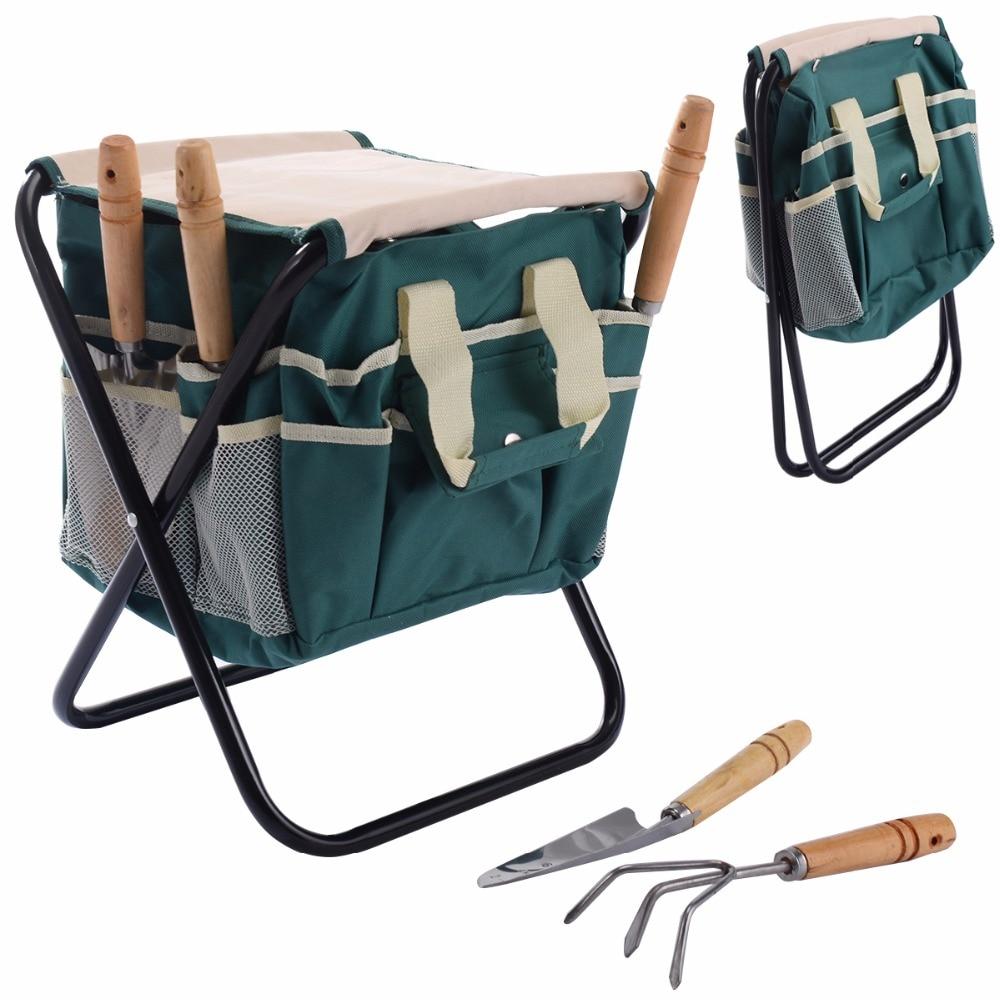 Silla plegable jardin herramientas de Almacenamiento con jardineria herramientas GT2940 pu taburete silla de oficina giratorio ajustable plegable ergonomica diseno hw51438