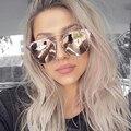 Dolce vision señoras ronda mujeres rosa espejo sunglassees gafas de aviador 2017 gafas de sol de mujer de marca de lujo diseñador shades oculos