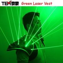 New arrived Green Laser Suit, LED Vest, Luminous Waistcoat 532nm Green Laser Gloves Glasses For Laser Show