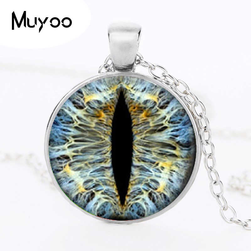 fashion Dragon Eye pendant personality cat eyes color art photo Charms for collars Eye glass dome pendant statement jewelry HZ1