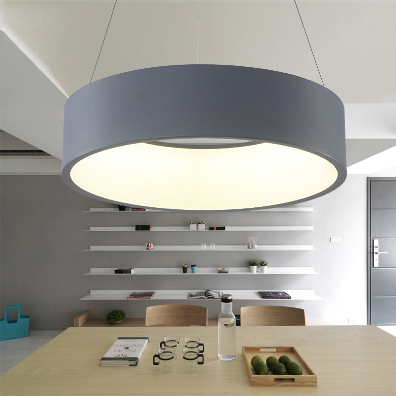 modern led pendant lights circle suspension for dining room pendant lamps home decoration light. Black Bedroom Furniture Sets. Home Design Ideas